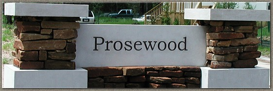 Prosewood Signage and Caps